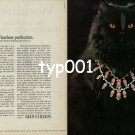 BOUCHERON - 1979 - HIGH SOCIETY CAT VLADIMIR - FLAWLESS PERFECTION PRINT AD