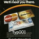 MASTERCARD - 1984 FLY RELAXED WE'LL MEET YOU THERE PRINT AD