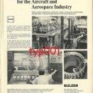 SULZER 1972  CONCORDE TEST FACILITIES & STRÜVER 1972 AIRPORT POWER PRINT ADS