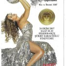 FENERBAHCE F.C. TURKEY  2007 - 100. ANNIVERSARY BEYONCE CONCERT FLYER CARD