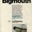 LUFTHANSA - 1973 - BIGMOUTH PRINT AD
