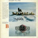 ROLEX - 1987 - SIRIUS PATROL OF DANISH NAVY IN GREENLAND GMT MASTER II PRINT AD