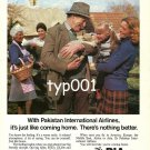 PIA PAKISTAN INTL AIRLINES - 1980 - IT'S JUST LIKE COMING HOME PRINT AD - 01