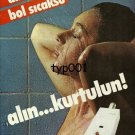 DEMIRDOKUM - 1983 SEXY NUDE SHOWERING HOT WATER HEATER TURKISH PRINT AD - 2