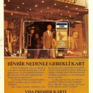 VISA PREMIER - 1987 - SHOPPING AT BURBERRYS LONDON TURKISH PRINT AD