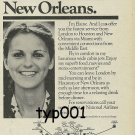 NATIONAL AIRLINES - 1976 THE FASTEST SERVICE FROM LONDON TO HOUSTON PRINT AD