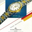 BAUME & MERCIER - 1988 - THE NEW RIVIERA WATCH PRINT AD