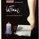 PARIZIEN - 1985 - RARE LA FEMME HOSIERY PANTYHOSE TURKISH PRINT AD