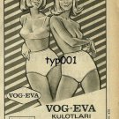 VOG - EVA - 1966 - RARE  PANTIES TURKISH PRINT AD