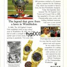 ROLEX - 1996 - THE LEGEND THAT GREW FROM A LAWN IN WIMBLEDON PRINT AD