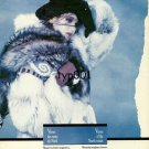 MCCOMBER - 1988 - VENUS OF THE NORTH WINDS LADY IN FUR COAT PRINT AD