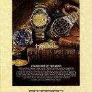 ROLEX - 1996 - TREASURES OF THE DEEP PRINT AD