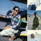 THOMAS BURBERRY - 1996 - BI-PLANE AVIATION MAN WOMAN  PRINT AD