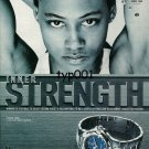TAG HEUER - 1998 - MARION JONES 100 M SPRINT CHAMPION PRINT AD