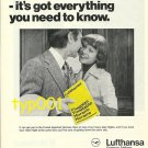 LUFTHANSA - 1976 - DON'T GO TO GERMANY WITHOUT OUR YELLOW BOOK  PRINT AD