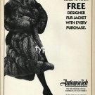 ANTONOVICH FURS - 1988 - FREE FUR JACKET - LADY IN FUR COAT PRINT AD