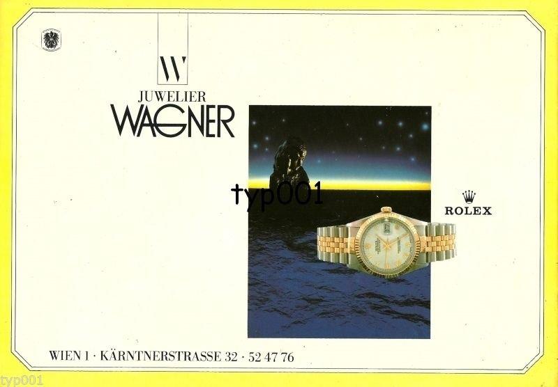 ROLEX - 1988 - JUWELIER WAGNER AUSTRIAN PRINT AD