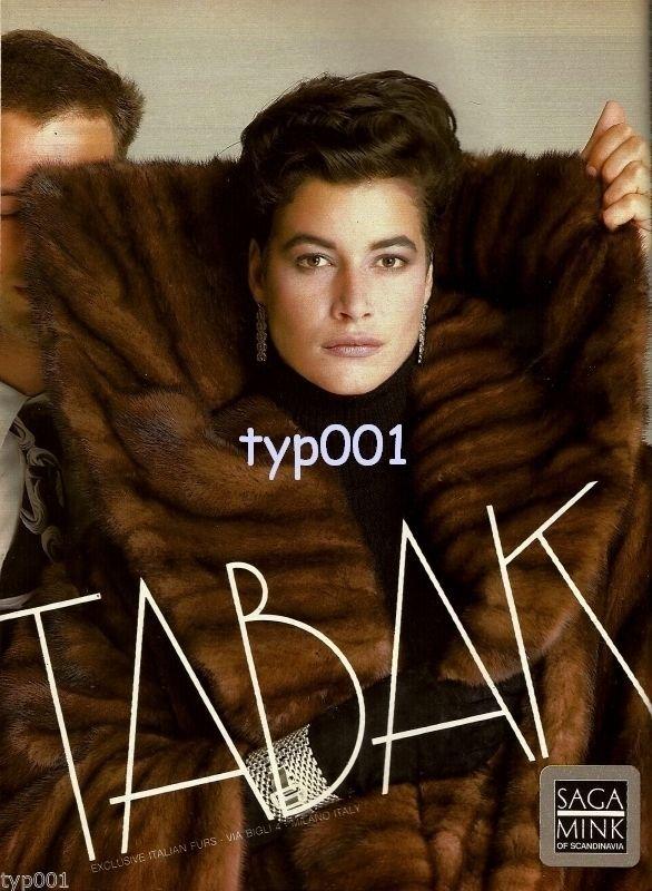 TABAK FURS - 1986 - EXCLUSIVE ITALIAN FURS SAGA MINK OF SCANDINAVIA PRINT AD