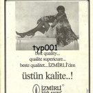 IZMIRLI FUR PALACE - 1983 - LADY IN FUR COAT TURKISH PRINT AD