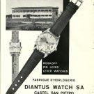 DIANTUS - 1968 - FABRIQUE D'HORLOGERIE DIANTUS WATCH VINTAGE PRINT AD
