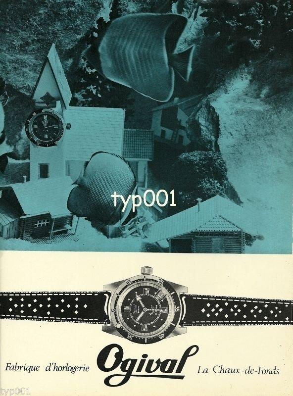 OGIVAL - 1968 - FABRIQUE D'HORLOGIE VINTAGE WATCH PRINT AD