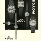 ROYCE - 1968 - VINTAGE SWISS WATCHES PRINT AD