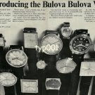 BULOVA - 1968 - REINTRODUCING THE BULOVA BULOVA WATCH VINTAGE PRINT AD
