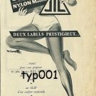 HELENCA & JIL - 1956 - NYLON MOUSSE PANTYHOSE PANTIES AND SOCKS FRENCH PRINT AD