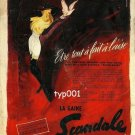 SCANDALE - 1956 - AVANT GARDE GIRDLE GARTER HOSIERY FRENCH PRINT AD