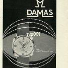 DAMAS BEGUELIN - 1968 - DAMASCENE WRISTWATCH VINTAGE PRINT AD