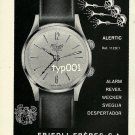 FRIEDLI FRERES SA - 1968 - ALERTIC ALARM WRISTWATCH VINTAGE PRINT AD