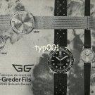 GSIGER GREDER FILS - 1968 - GG WATCH FACTORY VINTAGE PRINT AD