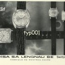 HELOISA - 1968 - WATCH MODELS VINTAGE PRINT AD