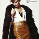 ROMAN BEYMEN MARKS & SPENCER - 2010 - LADY IN FUR COAT LEATHER PRINT ADVERTORIAL