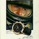 OMEGA - 1999 - MICHAEL SCHUMACHER'S CHOICE SPEEDMASTER PRINT AD -  FORMULA 1