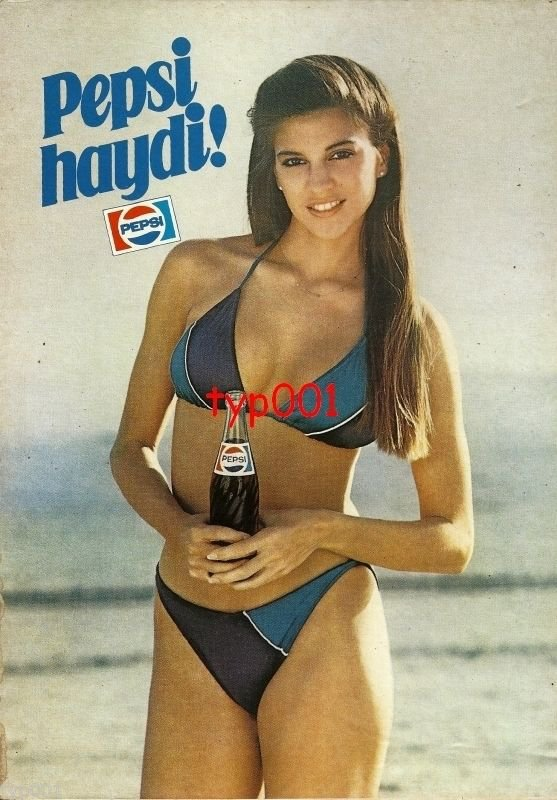 PEPSI COLA - 1984 - COME ON PEPSI GIRL IN A BIKINI TURKISH PRINT AD