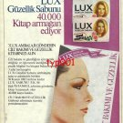 LUX- 1982 - BEAUTY BOOK GIFT CAMPAIGN TURKISH PRINT AD