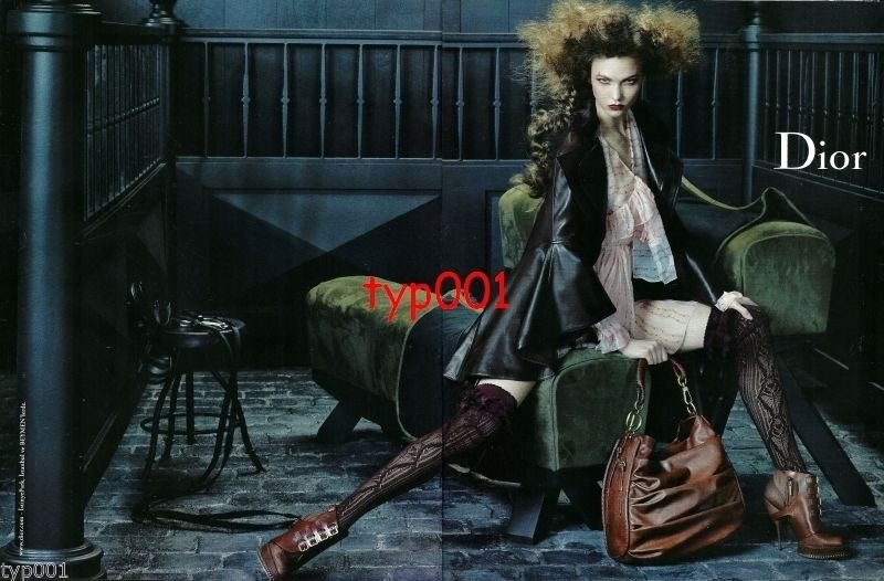 DIOR - 2010 -  SEXY LADY IN LEATHER HOSIERY PRINT AD