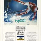 VISA - 1988 - WE'LL GIVE YOU A MUCH EASIER WAY TO ENJOY OLYMPICS PRINT AD