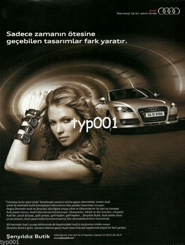 AUDI - 2010 - WATCH AND ACCESSORIES DESIGNED BY AUDI TURKISH PRINT AD