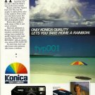 KONICA - 1988 - ONLY KONICA QUALITY LETS YOU TAKE HOME A RAINBOW PRINT AD