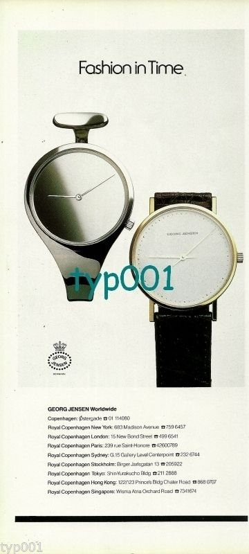 GEORG JENSEN - 1988 - FASHION IN TIME PRINT AD