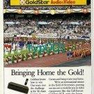 GOLDSTAR - 1988 - BRINGING HOME THE GOLD PRINT AD