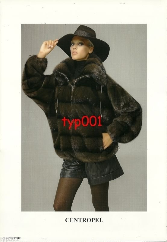 CENTROPEL - 2010 -  SEXY LADY IN FUR COAT HAT LEATHER SHORTS HOSIERY PRINT AD