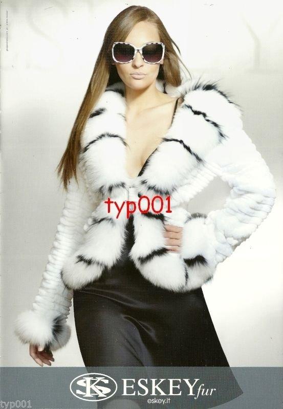 ESKEY FUR - MANZARI - 2010 -  SEXY LADIES IN FUR COATS PRINT AD