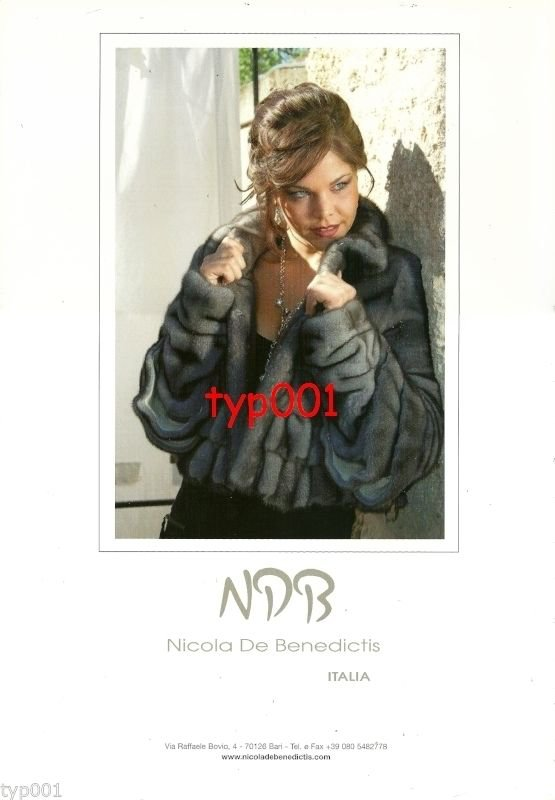 NDB NICOLA DE BENEDICTIS - ABEL - 2010 - SEXY LADY IN FUR COAT PRINT AD