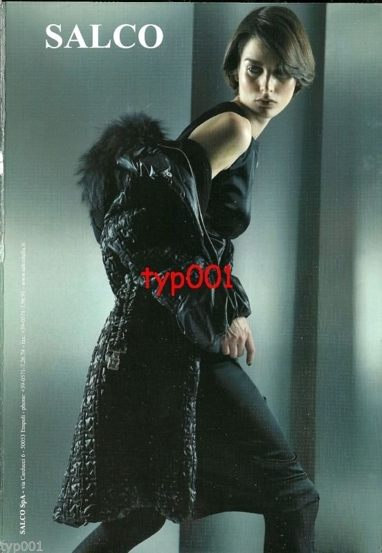 SALCO - 2010 -  SEXY LADY IN FUR LINED LEATHER COAT HOSIERY PRINT AD