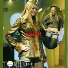 MILLINEO - 2010 - SEXY LADY IN LEATHER & FUR COAT JEAN SHORTS HOSIERY PRINT AD