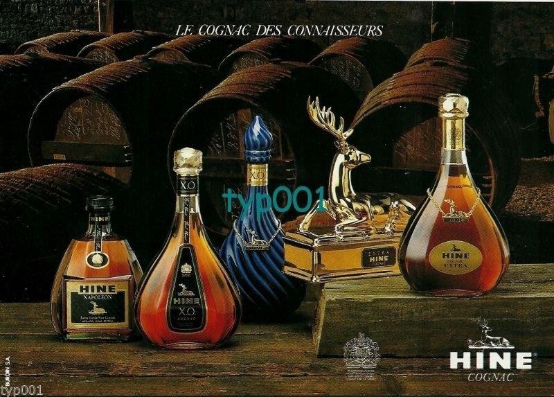 HINE - 1988 - LE COGNAC DES CONNAISSEURS PRINT AD