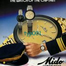 MIDO - 1988 - THE WATCH OF THE CAPTAIN PRINT AD